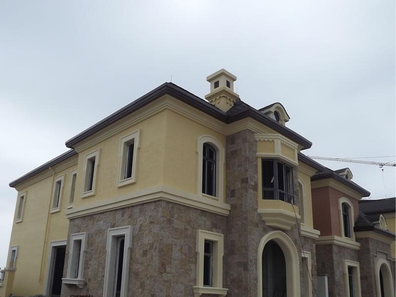 欧式建筑屋面翻沿图片
