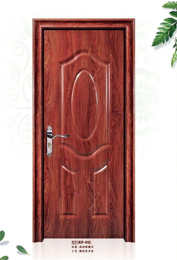 红色房门的装修效果图