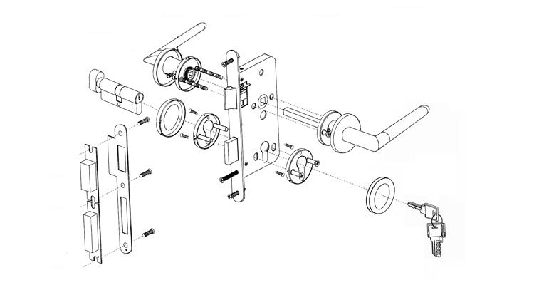 门锁产品设计手绘图