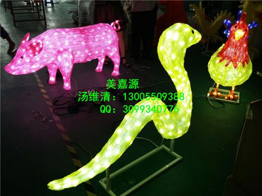 led十二生肖造型,滴胶动物造型