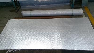 小五条筋花纹铝板,两条筋花纹铝板