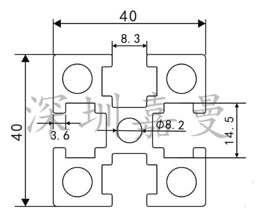 供应家具国标铝型材4040指导价_供应工业工业制做图纸国标书图片