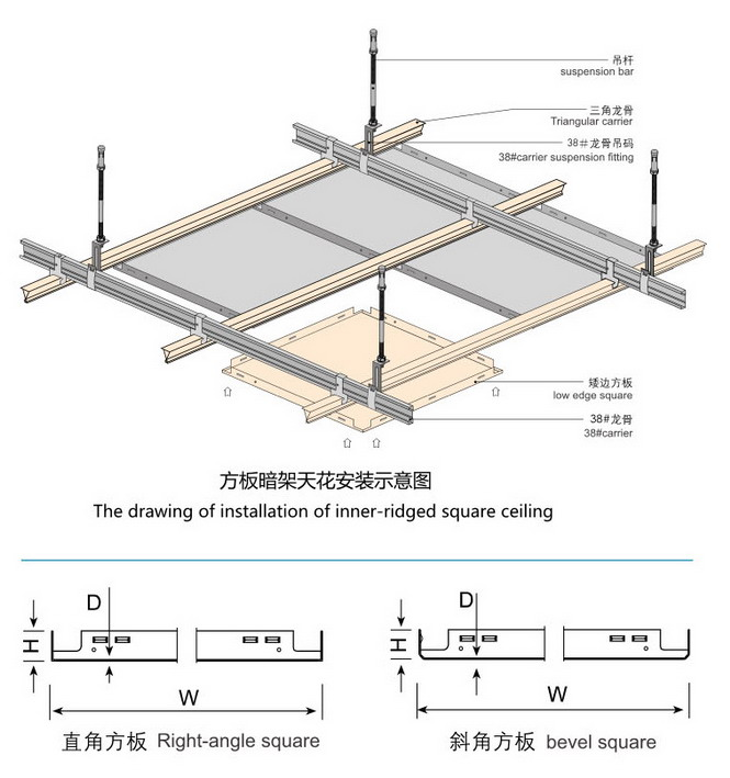铝扣板吊顶安装结构,简单稳固