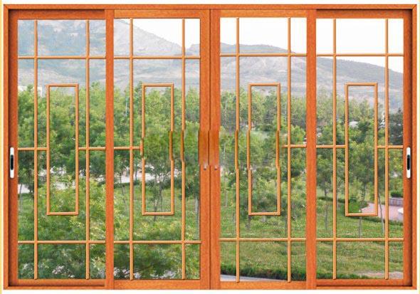 中式花格门窗价格仿古铝门窗