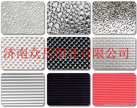 通常冷库,地板,外包装多使用此种花纹铝板材