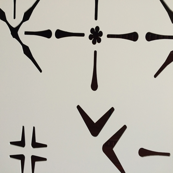 异形木板雕刻书法