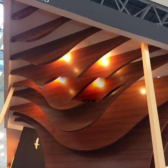 防火造型铝方通吊顶