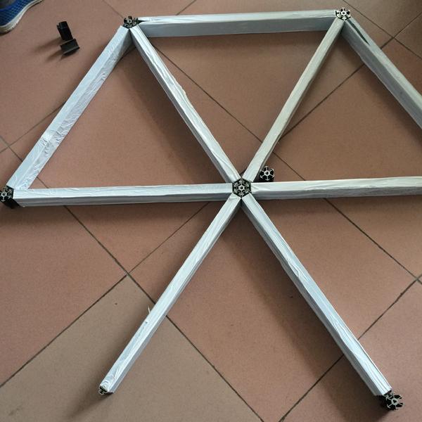 型材铝格栅吊顶剖面图 组合型铝格栅天花