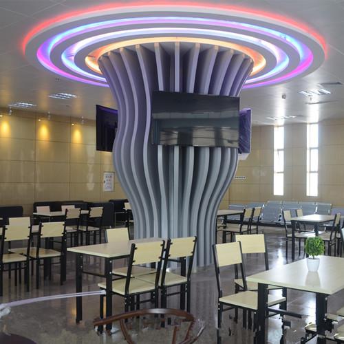 """大树""""造型柱子 装饰铝板,""""树枝""""型商场柱子 造型铝板定制,""""花瓶""""型包"""