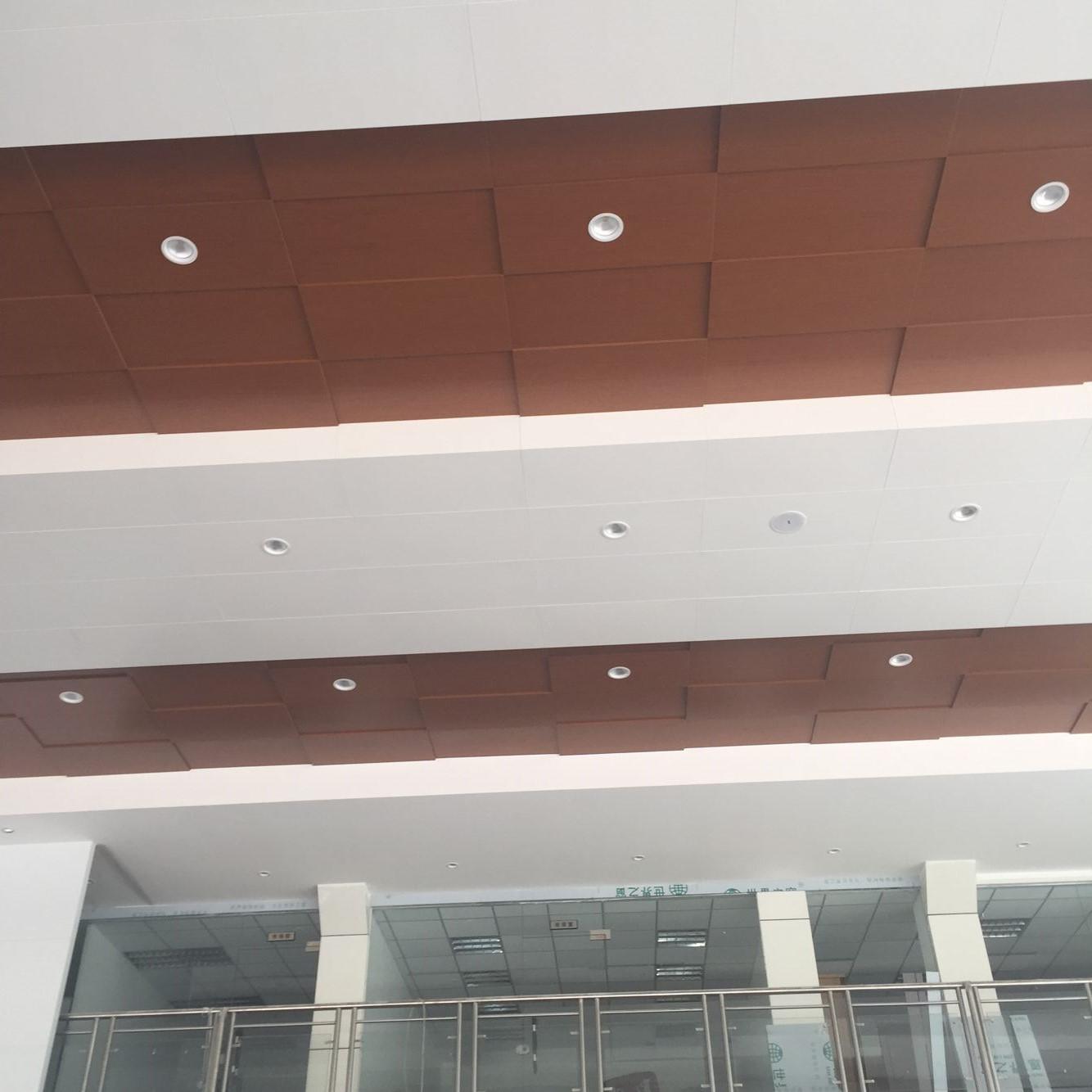 广汽本田4s店展厅专用金属木纹铝单板吊顶天花,金属天花板