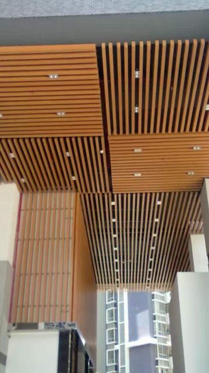木纹贴膜铝板 供应覆膜木纹铝方通吊顶