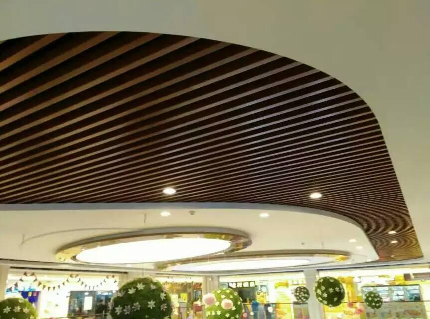 滚涂木纹铝方通吊顶天花室内吊顶环保