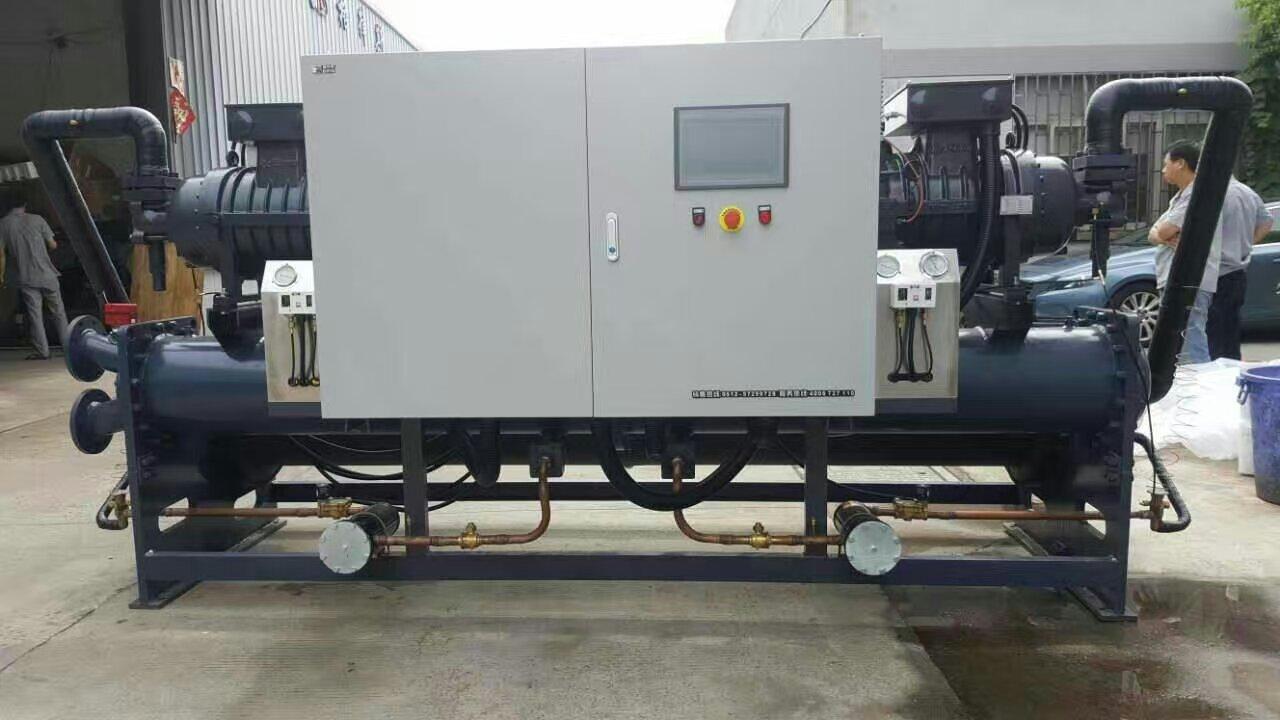 电镀铝氧化表面处理注塑医药化工海鲜海产品养殖海水专用双机头螺杆式冷水机组1.jpg
