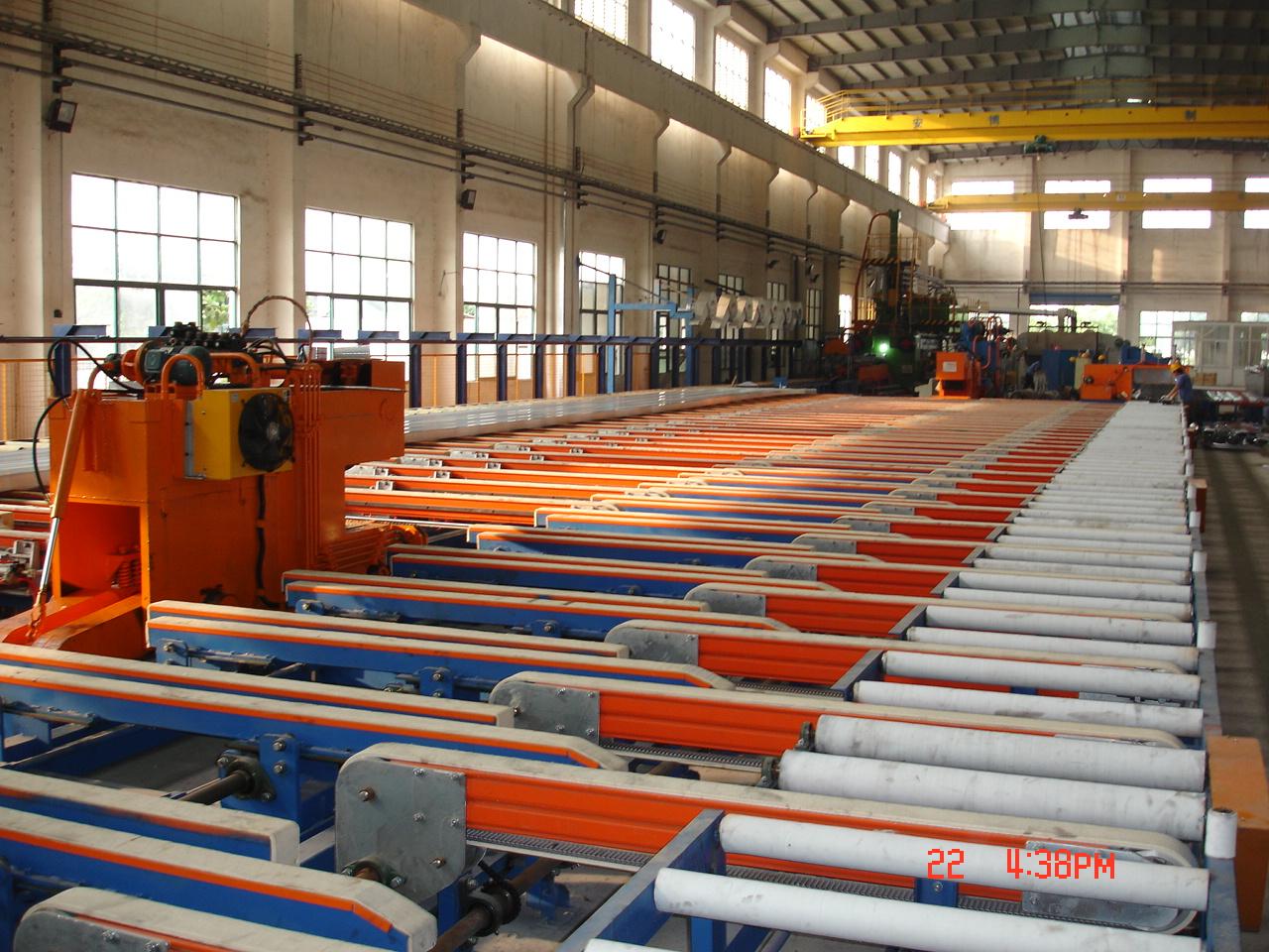 10000T conveyor for aluminum profiles