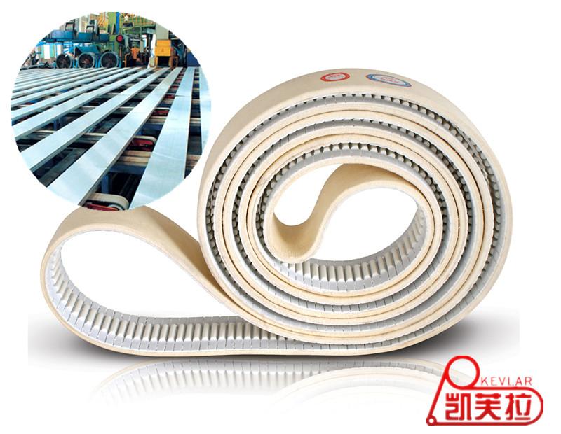 PU Timing Belt with Heat-resistant Felt for Heavy Aluminium Press