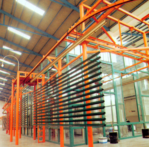 aluminum section spraying production line
