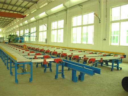Extrusion rear part production line