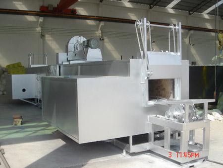 Side combustion aluminium bar heating furnace