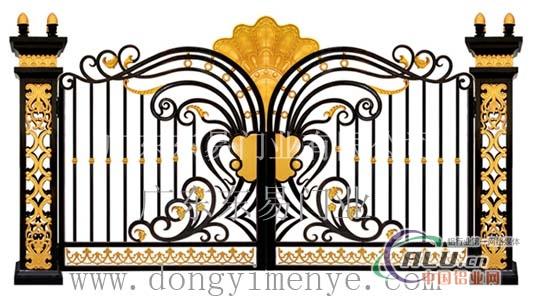 欧式dy1117铸铝别墅庭院门