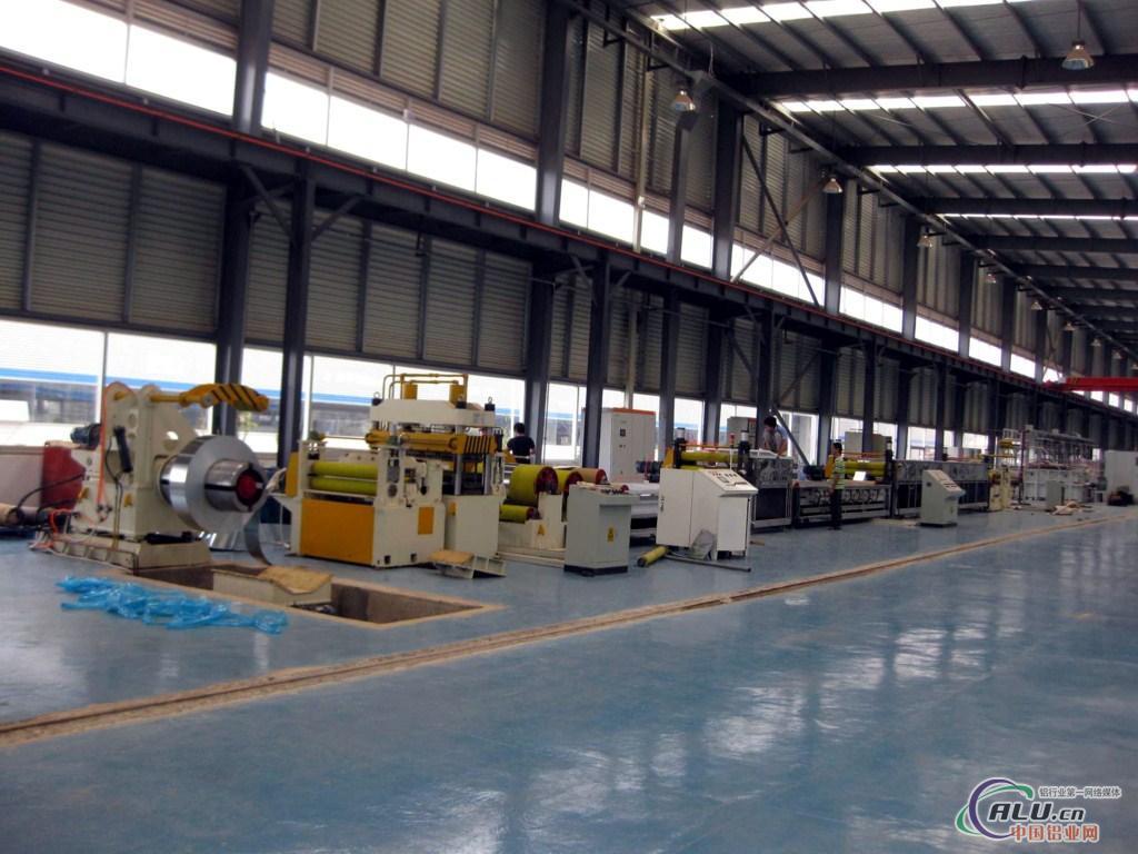 铝板清洗贴膜生产线