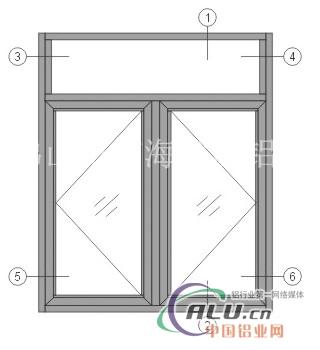 50平开窗铝型材