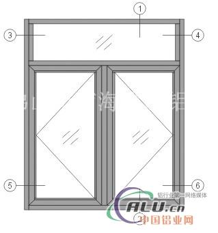 38平开窗铝型材