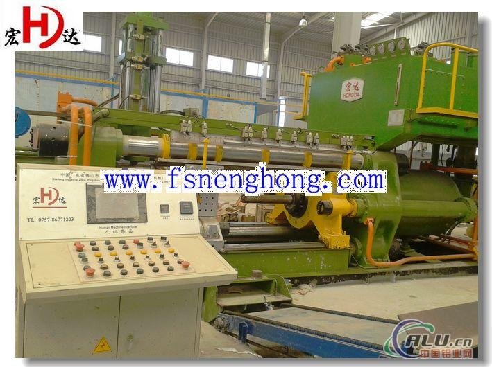 Aluminium profile extrusion press for extruding window and door