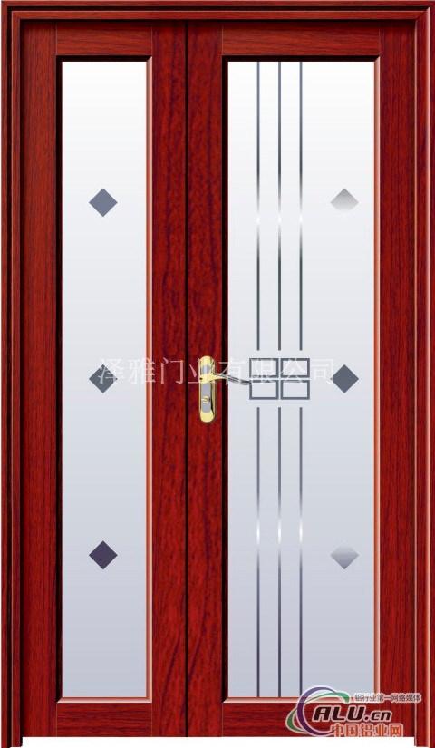玻璃贴纸花纹对开门