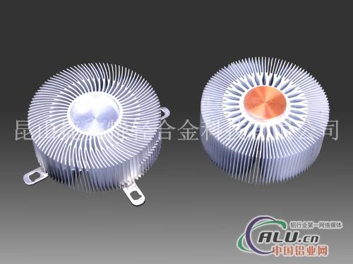 圆形塞铜太阳花散热器