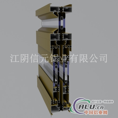 G80穿条式隔热断桥节能推拉门窗