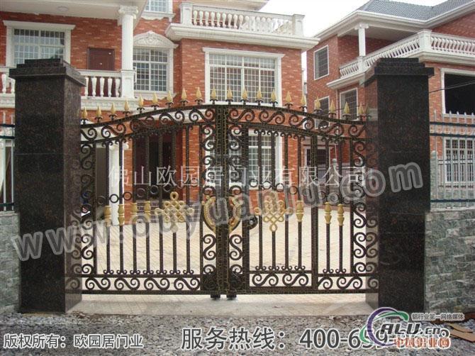 欧式别墅庭院门-铝合金门窗-中国铝业网