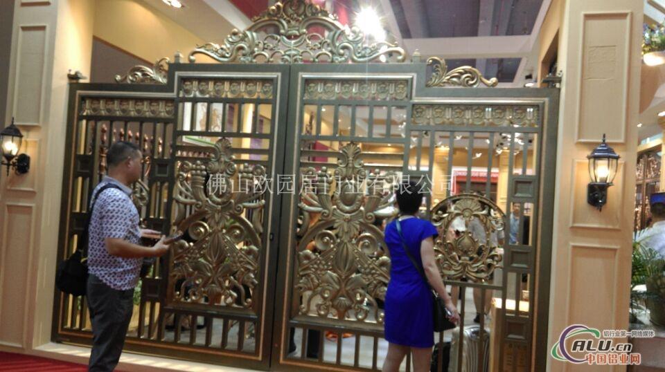 别墅铜大门图片-铝合金门窗-中国铝业网