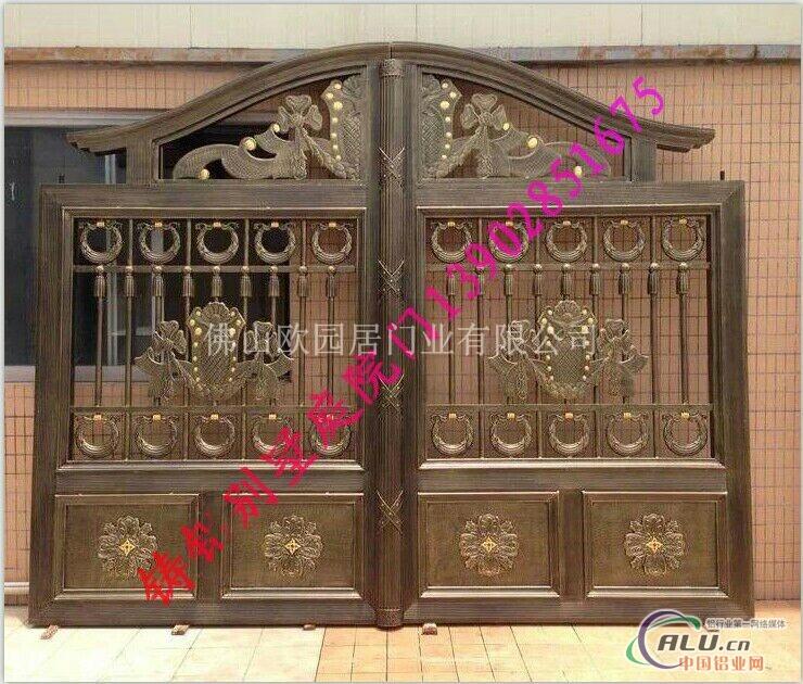 中式别墅围墙大门图片