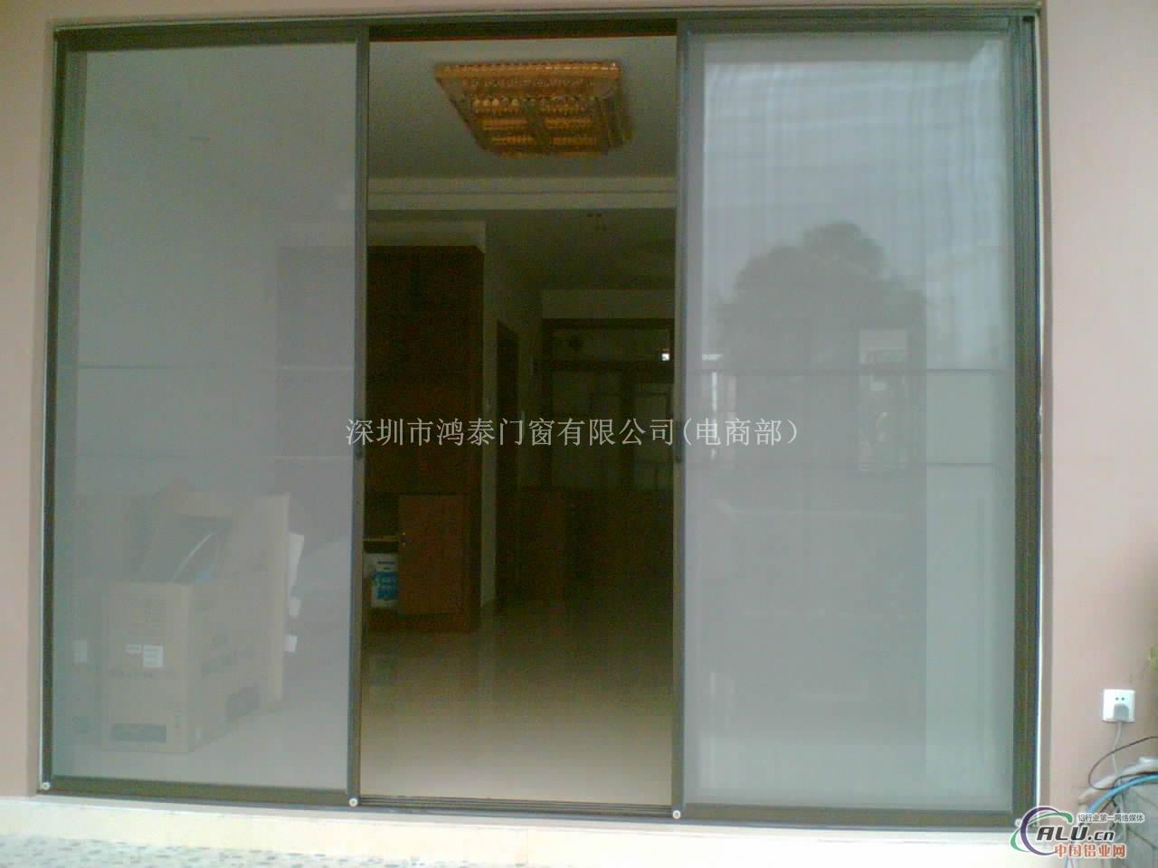 120重型铝推拉纱门,纱窗定做安装