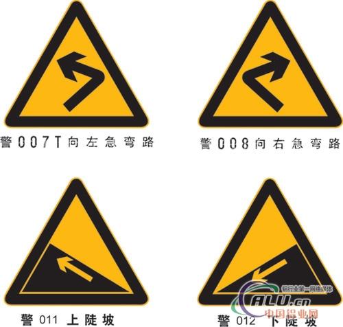 """倒立三角形""""让""""字减速让行牌,正方形人行横道标志牌,路名指路牌等,还"""