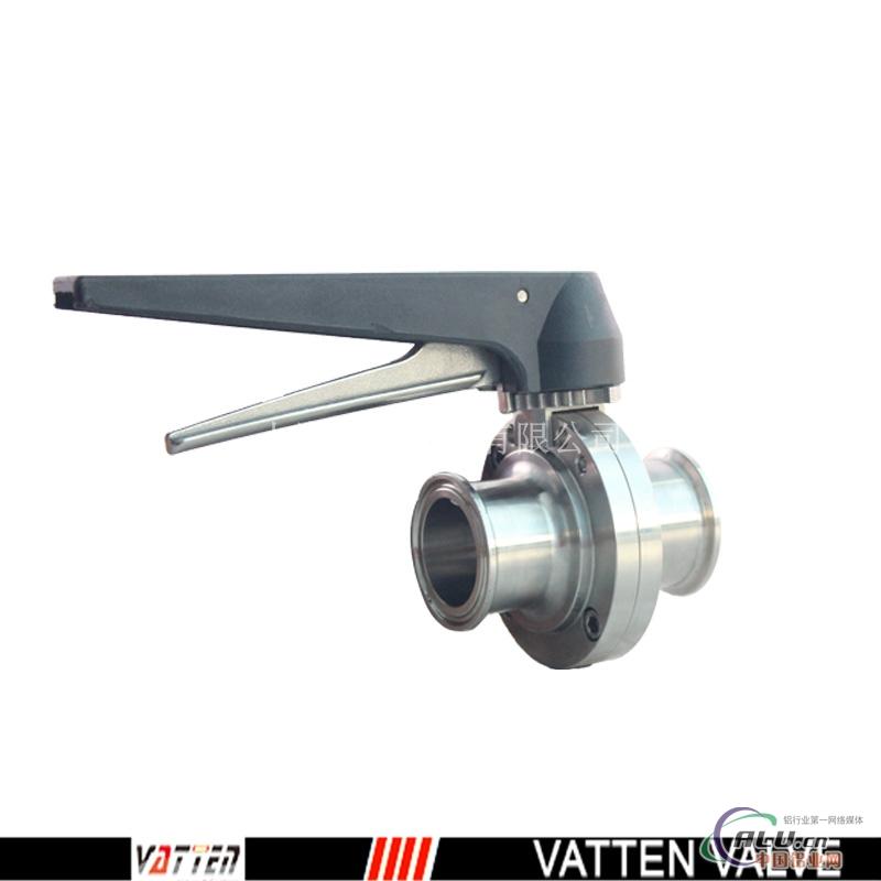 连接方式 快装式,卡箍式,外螺纹,焊接式等 法登vatten气动卫生级蝶阀图片