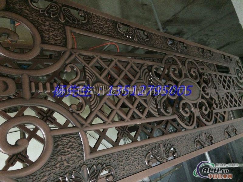 兰州铝板雕刻屏风价格 雕刻镂空仿古屏风订做 新款欧式铝板雕刻