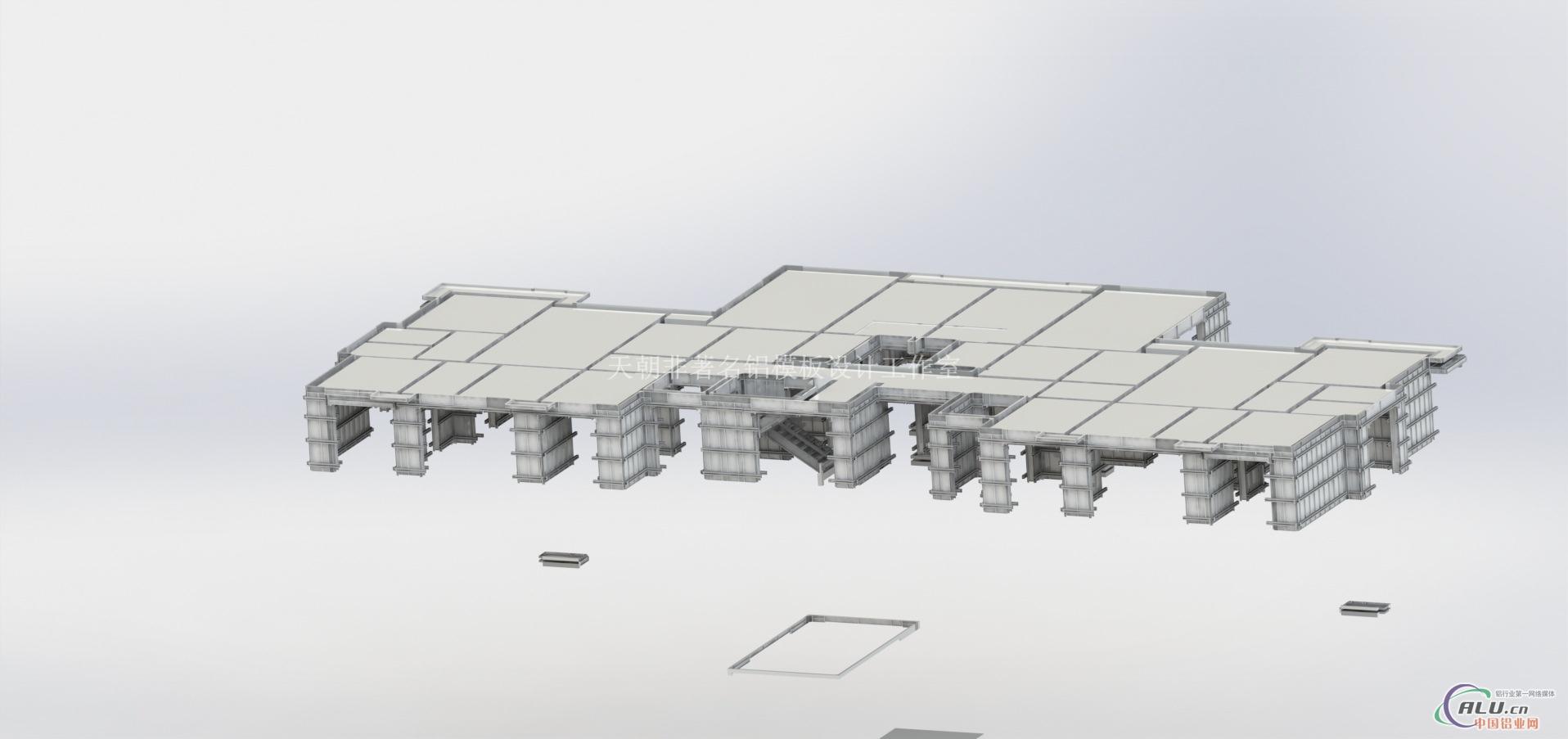 网师园建筑3d手绘