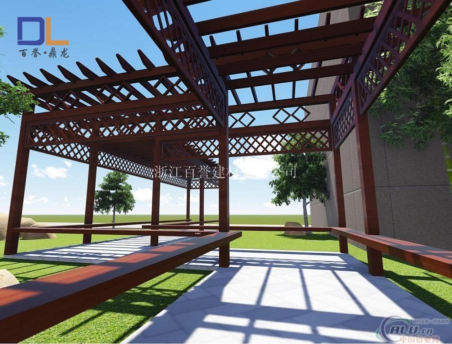 铝合金中式景观廊架葡萄架