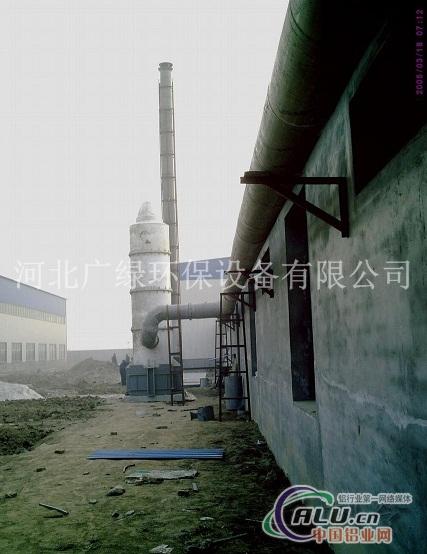 工作原理 洗涤塔属两相逆向流填料吸收塔