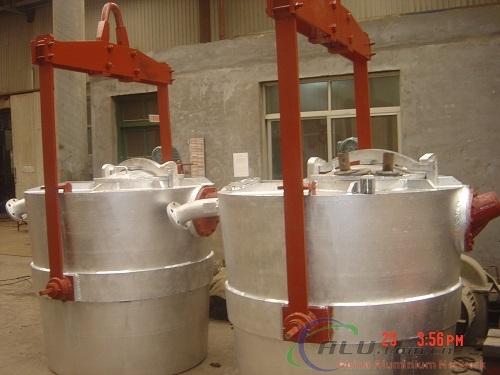 2t liquid aluminium ladle