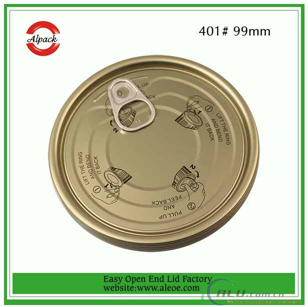 Customized Tinplate Easy Open End for Canned Food