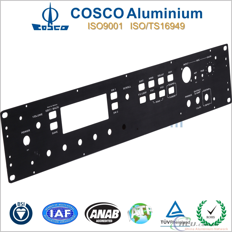 Aluminium Face Plate with anodizing