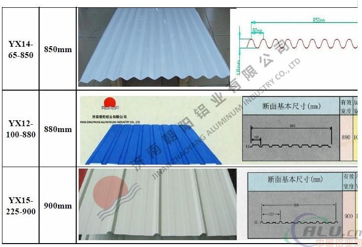 0.7厚度铝瓦价格屋面系统用的铝瓦楞板
