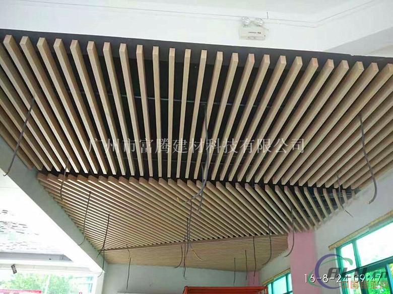 木纹铝方管外墙装饰铝方通天花铝合金
