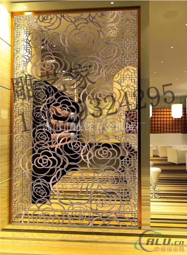 铝单板雕花 雕艺家铝铜隔断屏风特点:雕艺家铝铜精雕