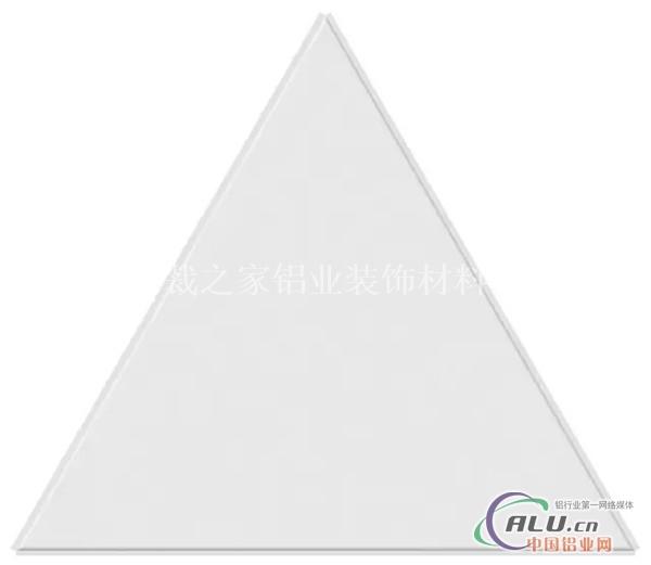 铝天花厂家供应平面三角形跌级板