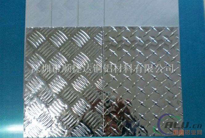 1060五条筋指针型花纹铝板