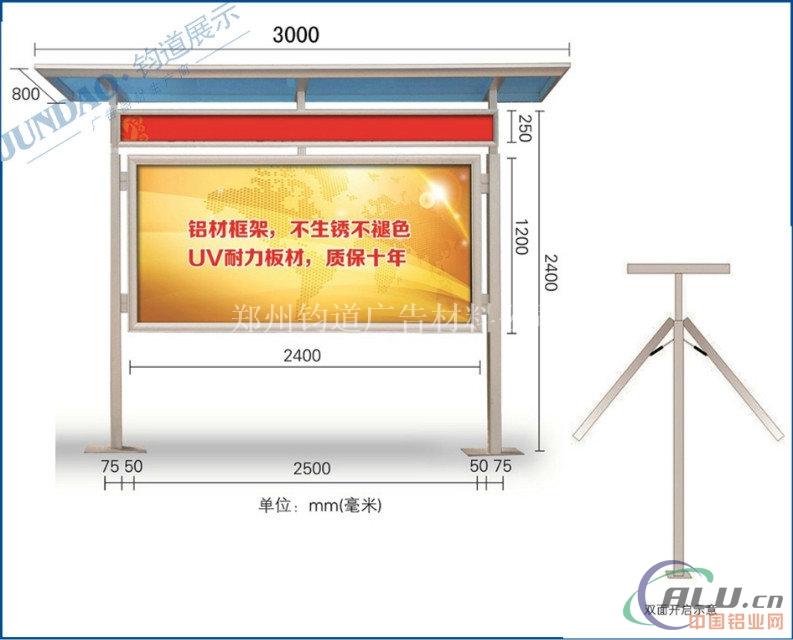 铝合金宣传栏矢量图