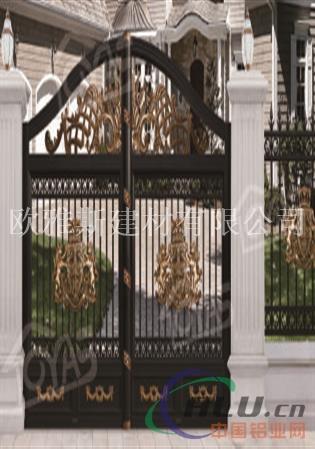 庭院大门豪华大门别墅铸铝庭院门